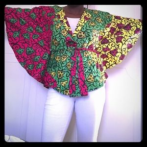 Tops - Fun Batik top with flutter sleeves